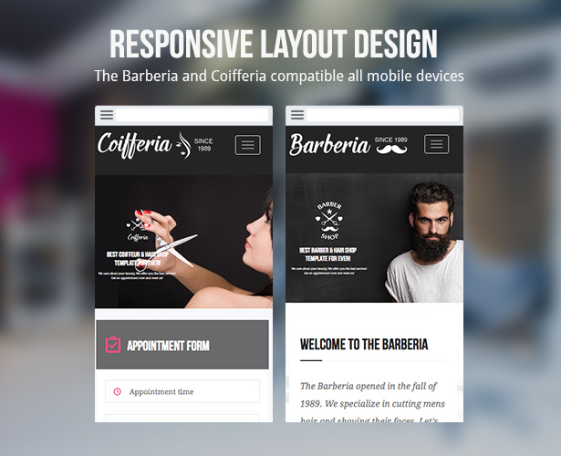 Barberia | Barber Hair Salon Responsive Template