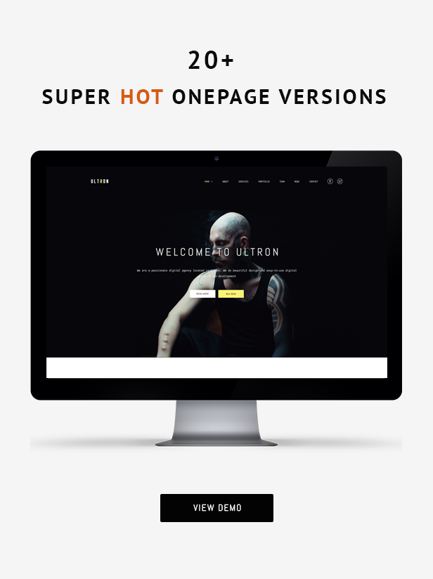 Ultron - Responsive One & Multi Page HTML Template